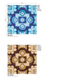 Modern Mosaic Pattern Silk