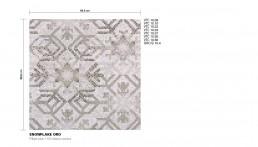 Modern Mosaic Pattern Snowflake Oro