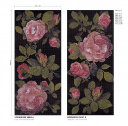 Springrose Floral Mosaic Pattern