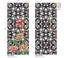 Floral Mosaic Pattern Tulips