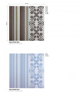 Modern Mosaic Pattern Wallpaper