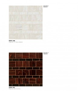 Timeless Mosaic Pattern Dark Line White Line