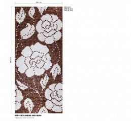Floral Mosaic Pattern Winter Flowers