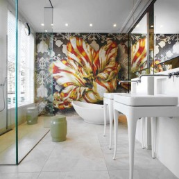 Mosaic feature wall at a private residence