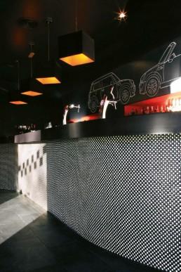 Bisazza mosaic at the Mini Lounge bar