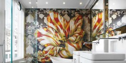 Bisazza Mosaic floral feature