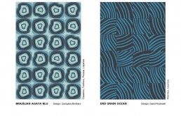 Brazilian Agata Blue and End Grain Ocean from the Atlantic Collection