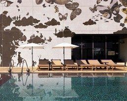 Bisazza Mosaic at the W Hotel Hong Kong