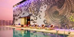 Bisazza Mosaic at the W Hotel Hong Kong