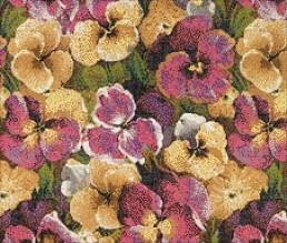 Pensée floral mosaic by Carlo Dal Bianco