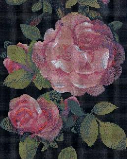 Springrose Nero Floral Mosaic