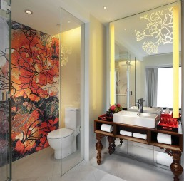 Bisazza interior design mosaic at the Mira Moon hotel