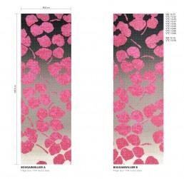 Bougainvillier Floral Mosaic Pattern