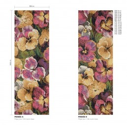 Pensee Floral Mosaic Pattern