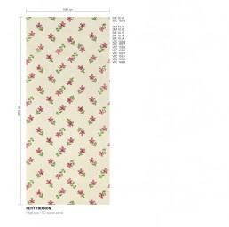 Petit Trianon Floral Mosaic Pattern