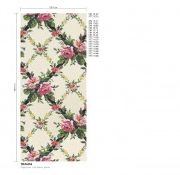Trianon Floral Mosaic Pattern
