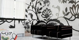 Lute Suites Amsterdam, featuring the Bisazza TREE mosaic pattern