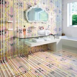 Bisazza Hermitage mosaic pattern at casa son vida bathroom