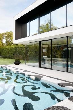 A bespoke swimming pool mosaic design