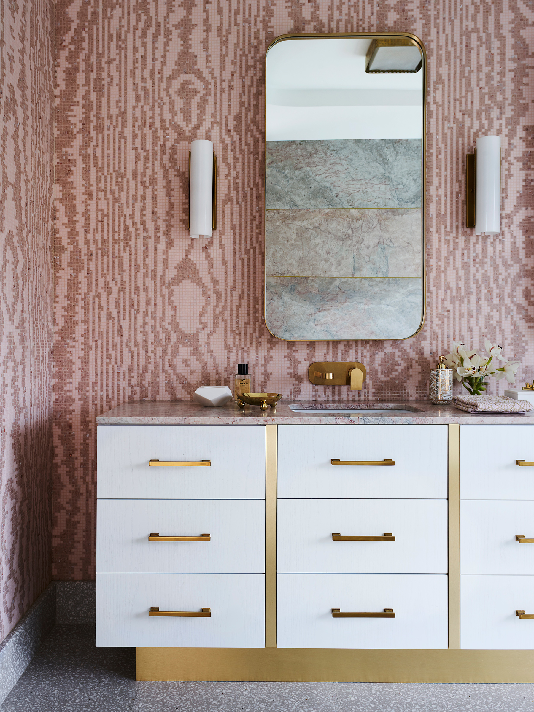 Greg Natale MOIRE ROSE Bisazza mosaic pattern