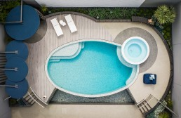 New Grigia and Ghiaccio Mosaic Pool and Spa