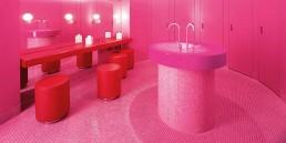 Hotel Side Bathroom Design with SMALTO Mosaic