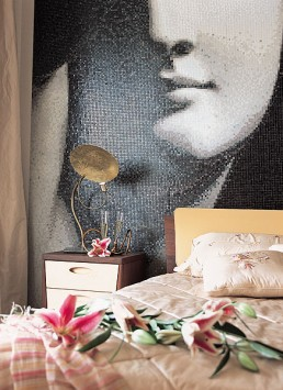 ENDIMIONE Mosaic Decoration in the Sochi Apartment Bedroom