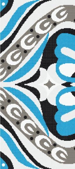 Bisazza AMELIE BLUE Swimming Pool Mosaic Pattern