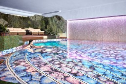 Bisazza ORTENSIA Swimming Pool Mosaic Pattern