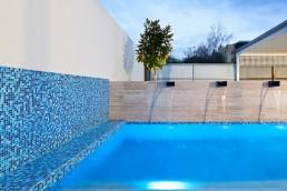 Custom Blue Swimming Pool Mosaic Blend