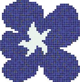 Bisazza FIORE BLU Swimming Pool Mosaic Pattern