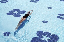 Bisazza FIORE BLU Swimming Pool Mosaic Pattern