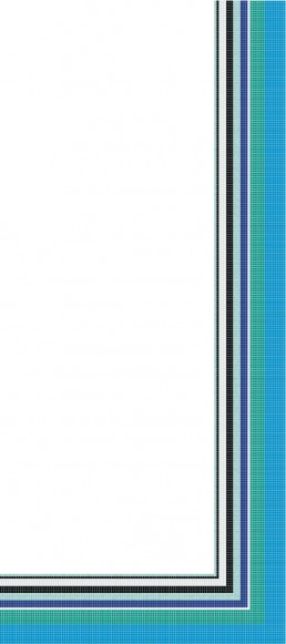 Bisazza FOULARD BLU Swimming Pool Mosaic Border