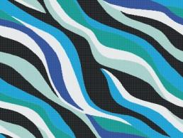Bisazza ONDE 20 BLU Swimming Pool Mosaic Pattern