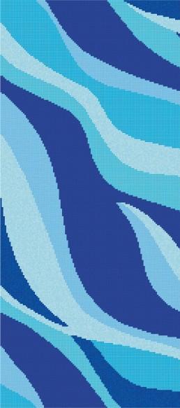 Bisazza ONDE 20 CELESTE Swimming Pool Mosaic Pattern