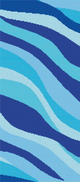 Bisazza ONDE 20 CELESTE Swimming Pool Mosaic Pattern