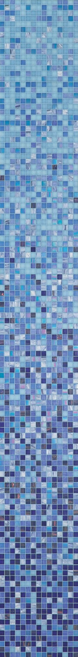 Bisazza GERBERA WHITELESS Swimming Pool Mosaic Shading Blend