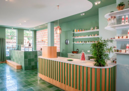 Retail interior with BUTTERFLY 8 Designer Cement Tiles